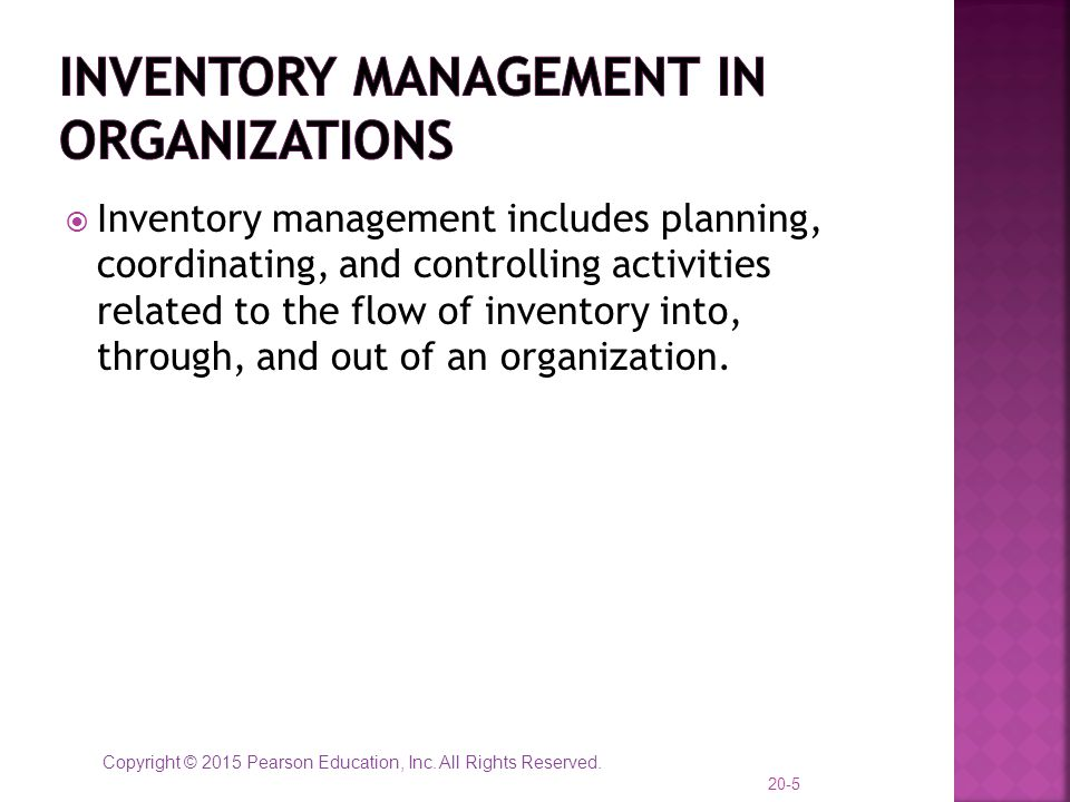 Inventory Management in Organizations