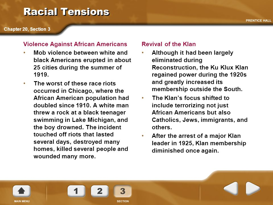 Racial Tensions Violence Against African Americans