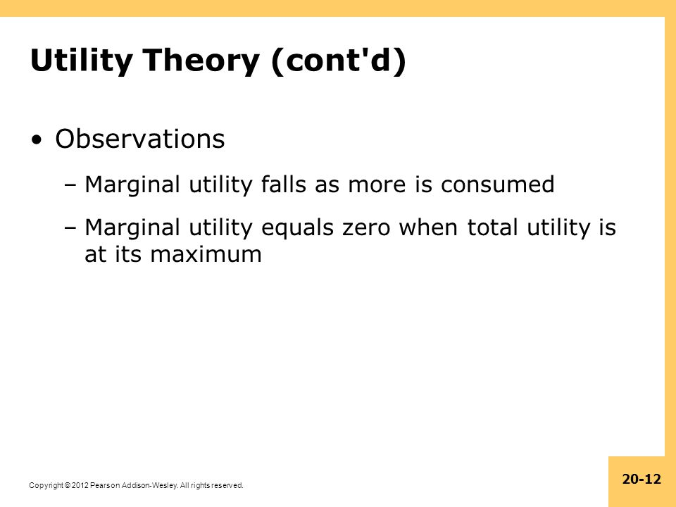 Utility Theory (cont d)