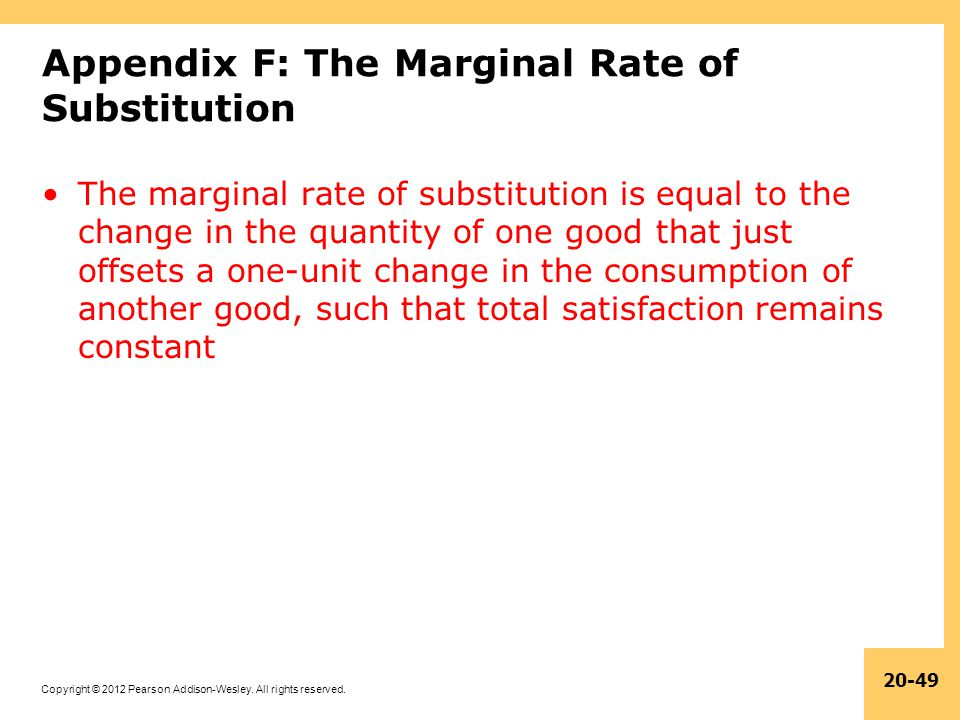 Appendix F: The Marginal Rate of Substitution