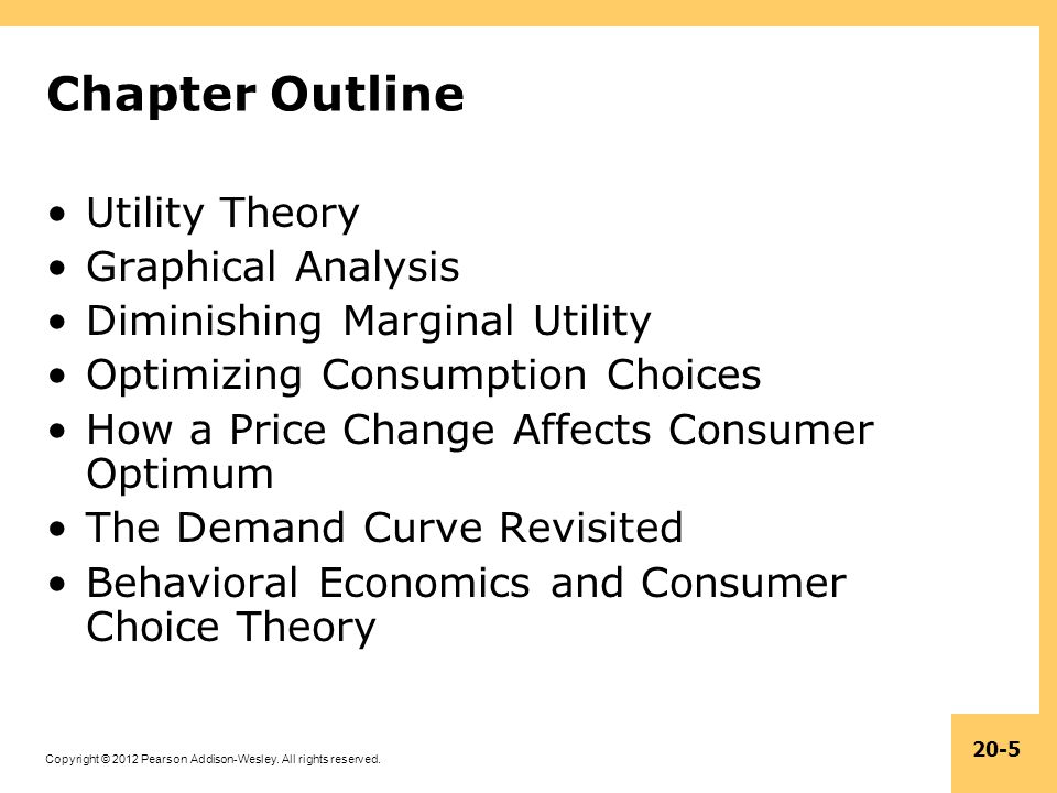 Chapter Outline Utility Theory Graphical Analysis
