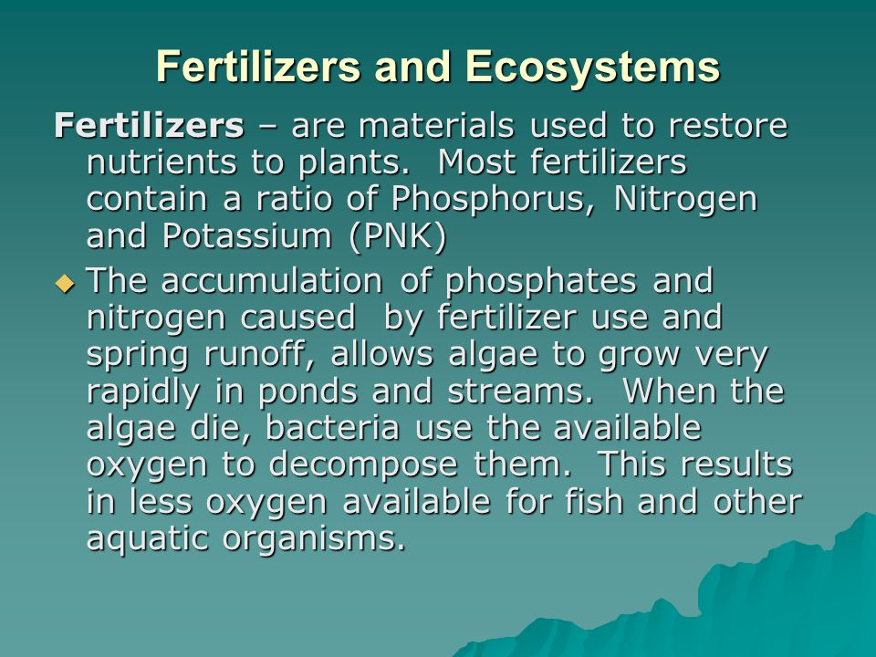 Fertilizers and Ecosystems