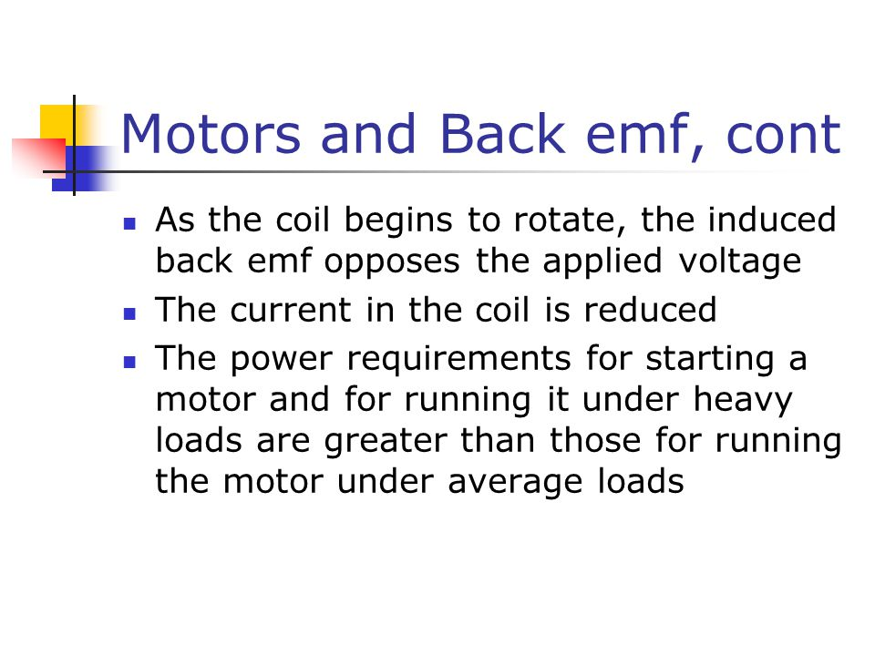 Motors and Back emf, cont