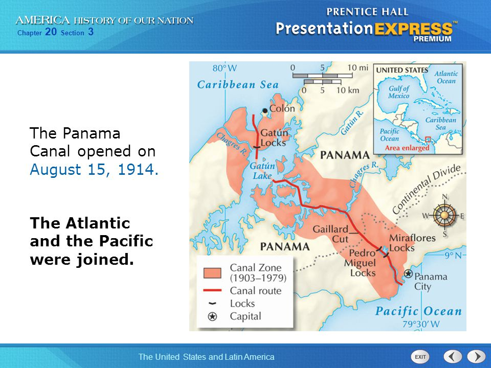 The Panama Canal opened on August 15, 1914.