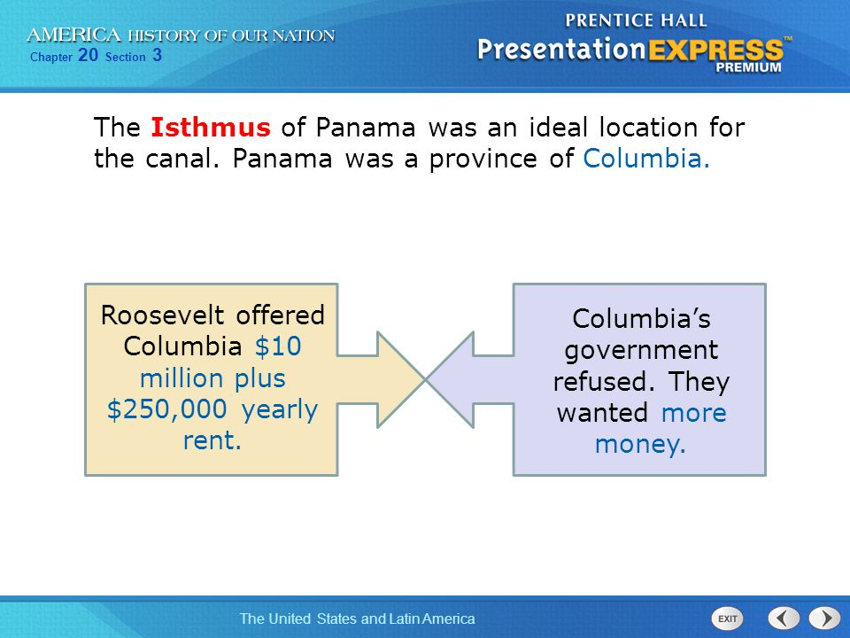 Roosevelt offered Columbia $10 million plus $250,000 yearly rent.