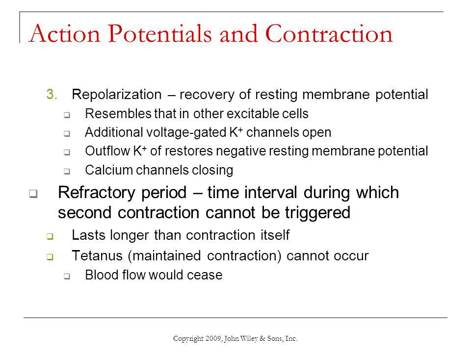 Action Potentials and Contraction