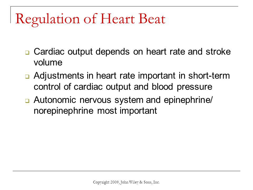 Regulation of Heart Beat