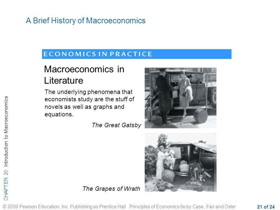 Macroeconomics in Literature