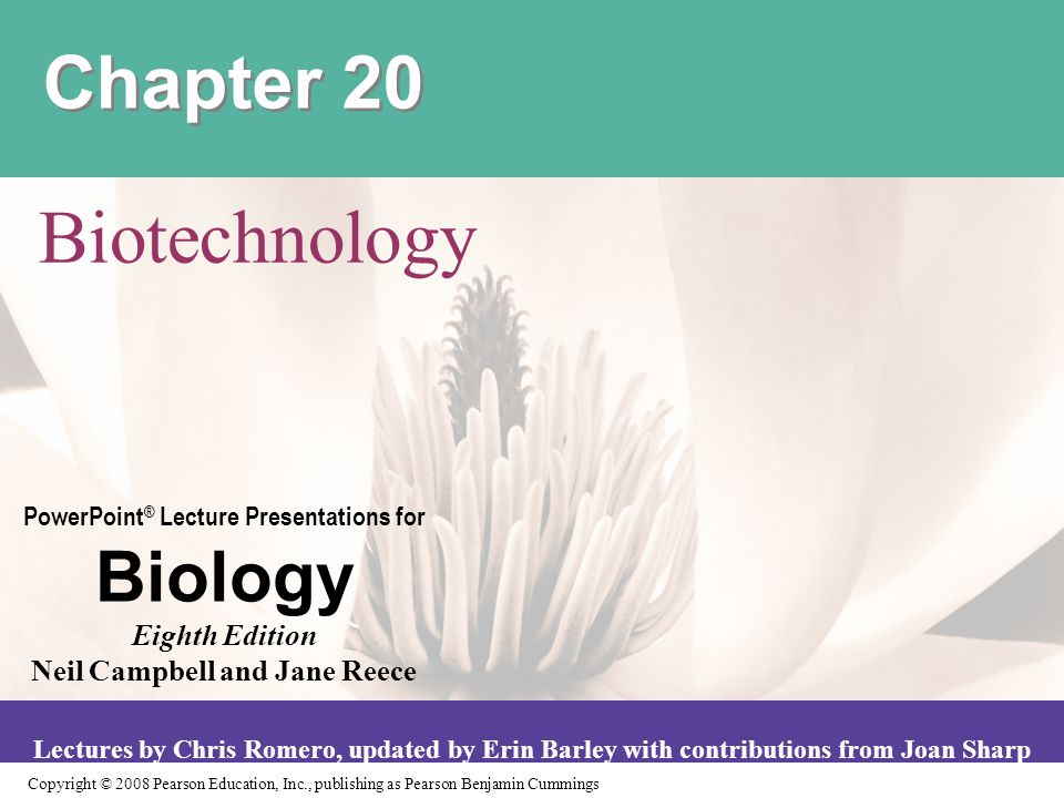 Chapter 20 Biotechnology