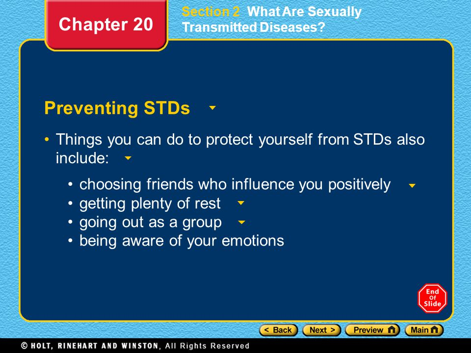 Chapter 20 Preventing STDs