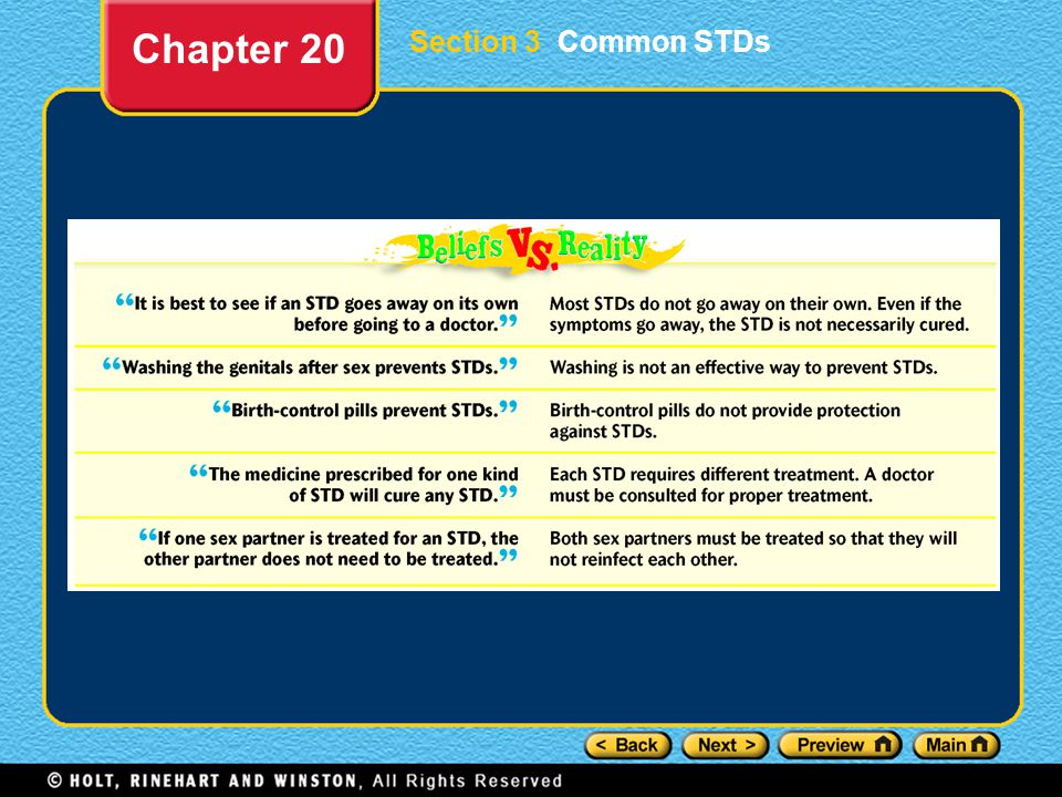 Chapter 20 Section 3 Common STDs