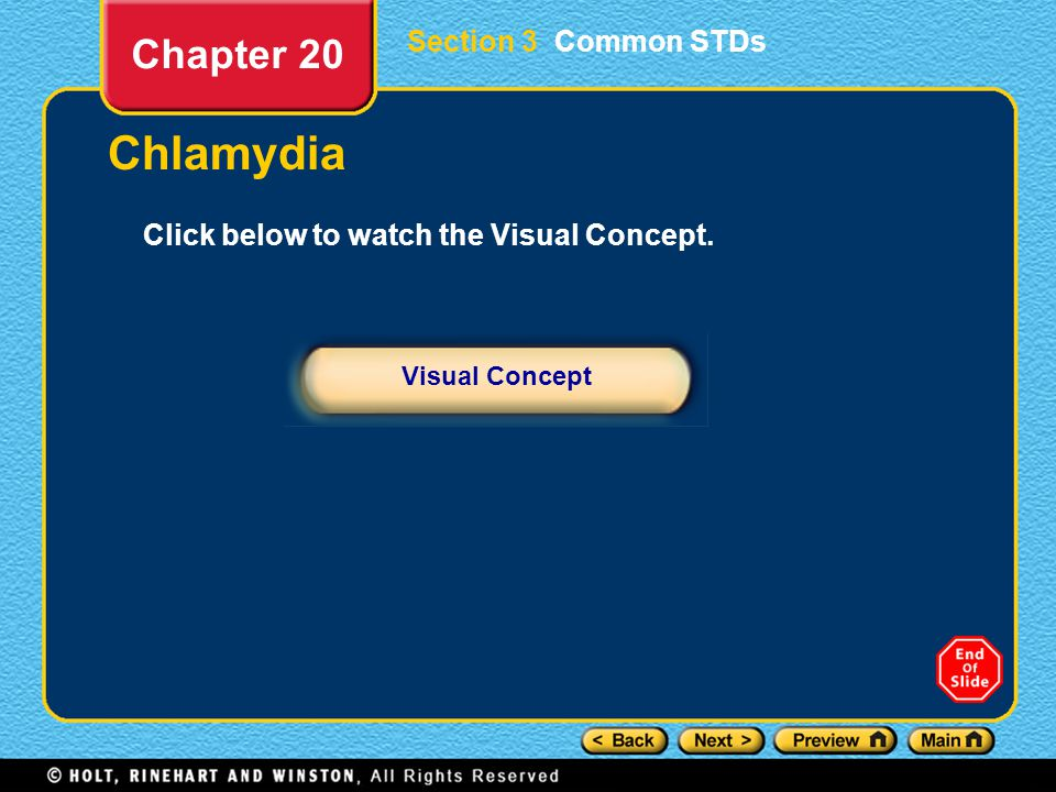 Chlamydia Chapter 20 Section 3 Common STDs