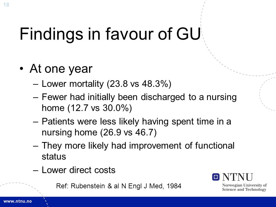 Findings in favour of GU