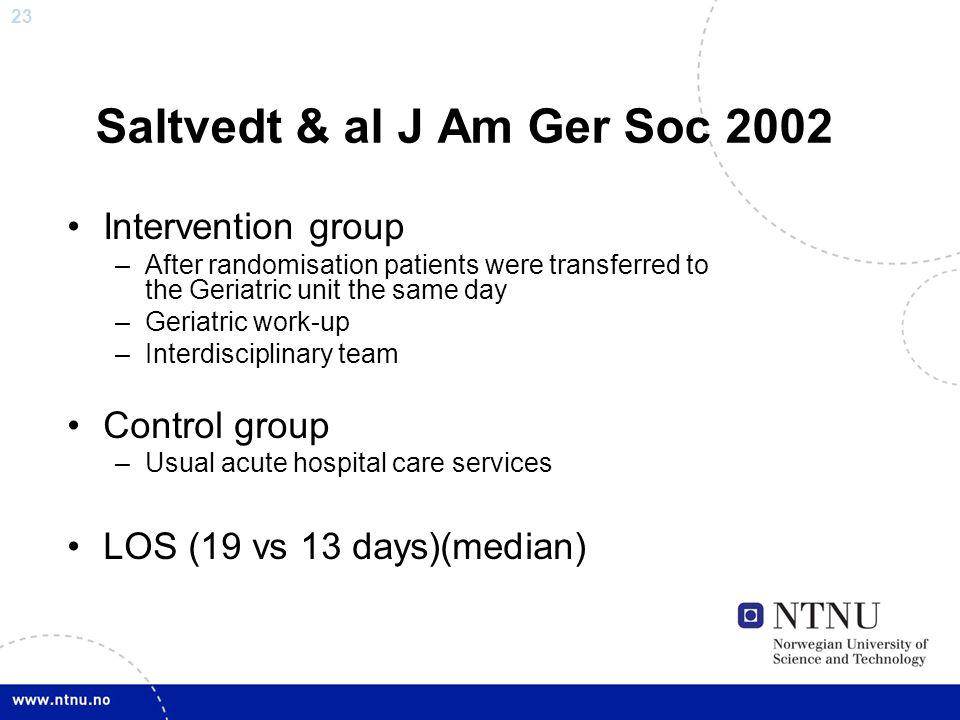 Saltvedt & al J Am Ger Soc 2002