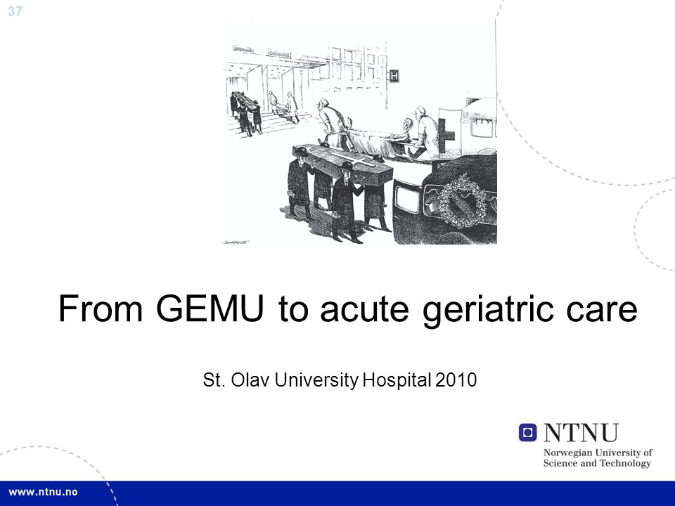 From GEMU to acute geriatric care