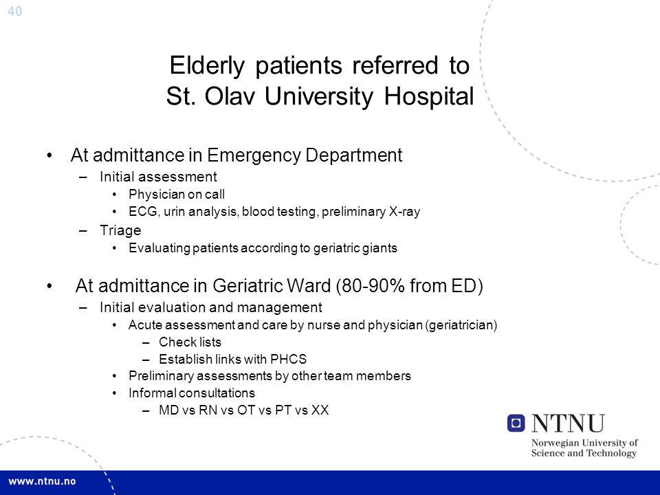Elderly patients referred to St. Olav University Hospital