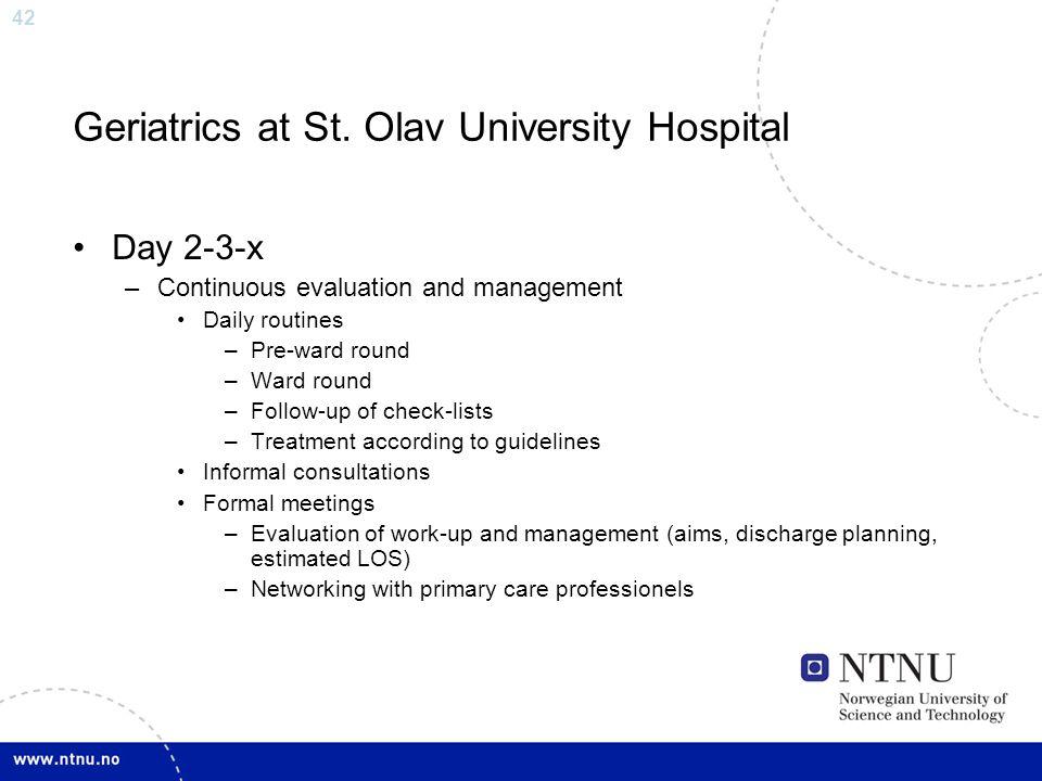 Geriatrics at St. Olav University Hospital