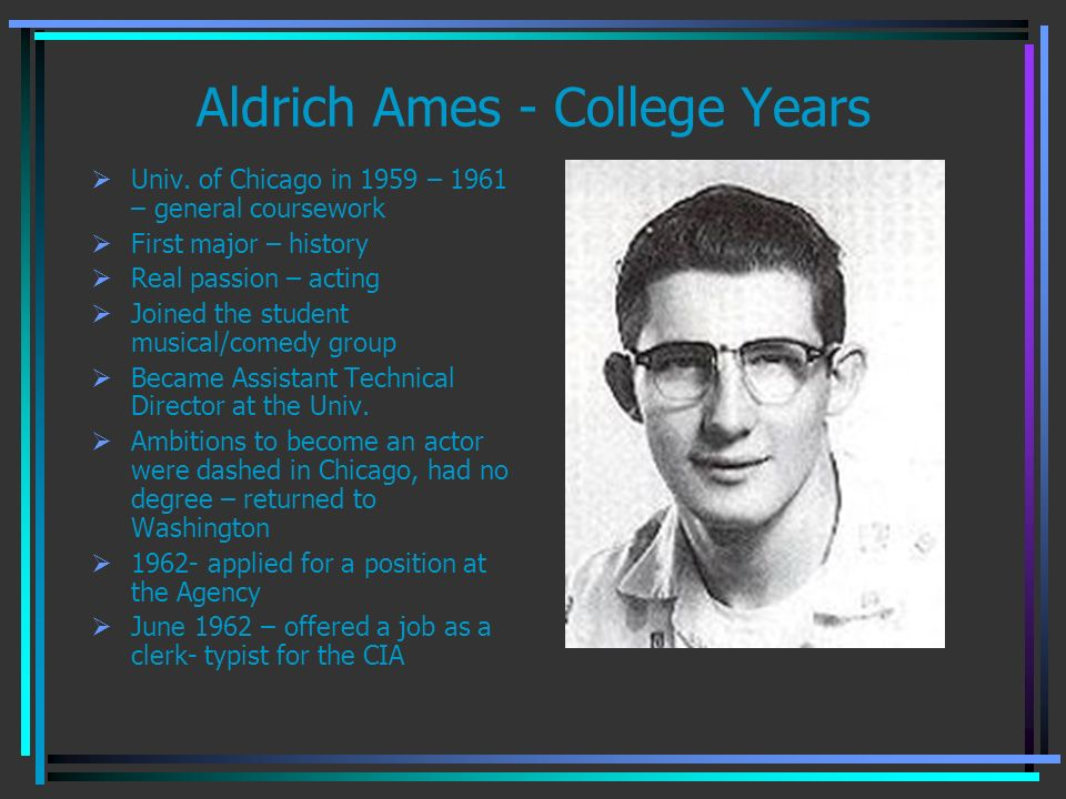 Aldrich Ames - College Years