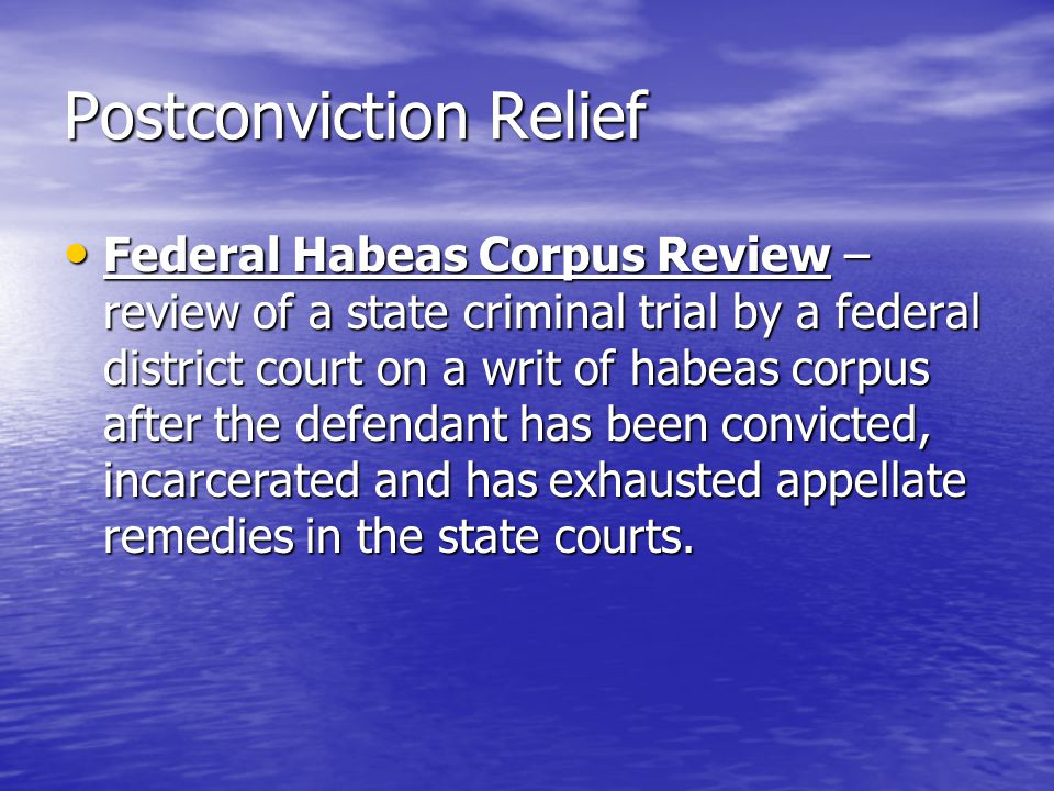 Postconviction Relief