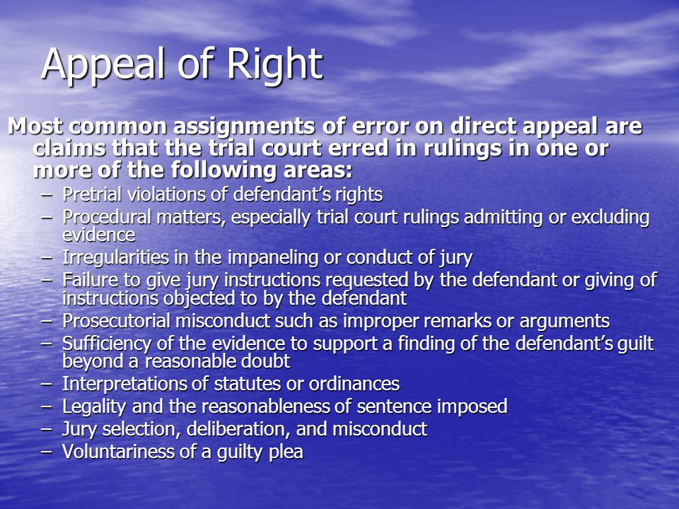 Appeal of Right