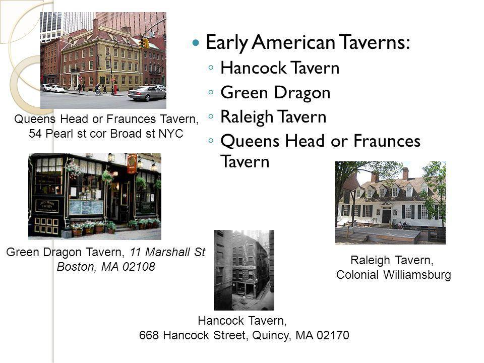 Early American Taverns: