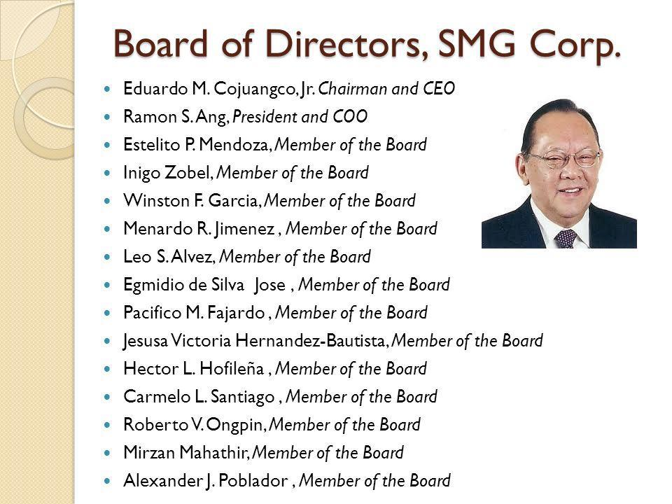 Board of Directors, SMG Corp.