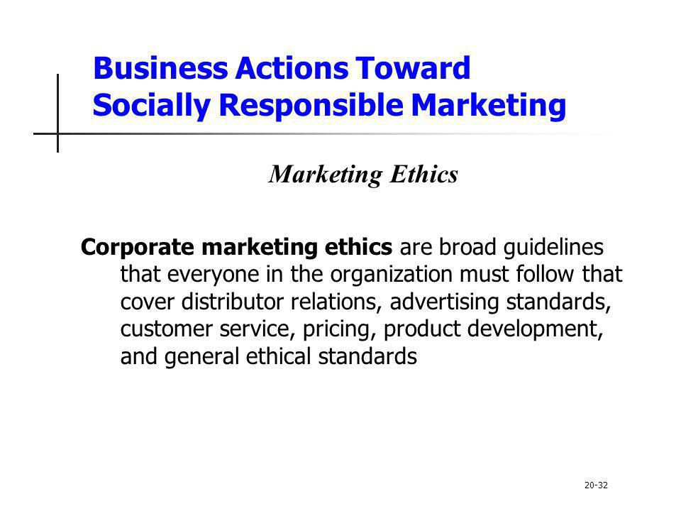 Business Actions Toward Socially Responsible Marketing