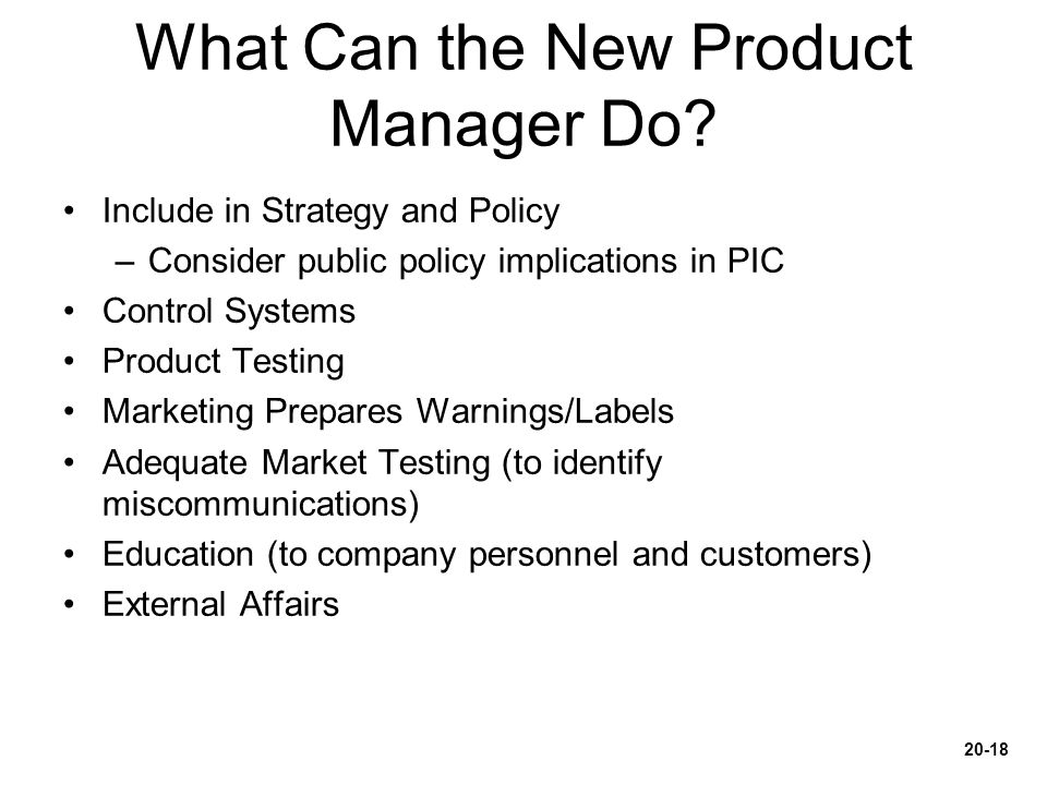 What Can the New Product Manager Do