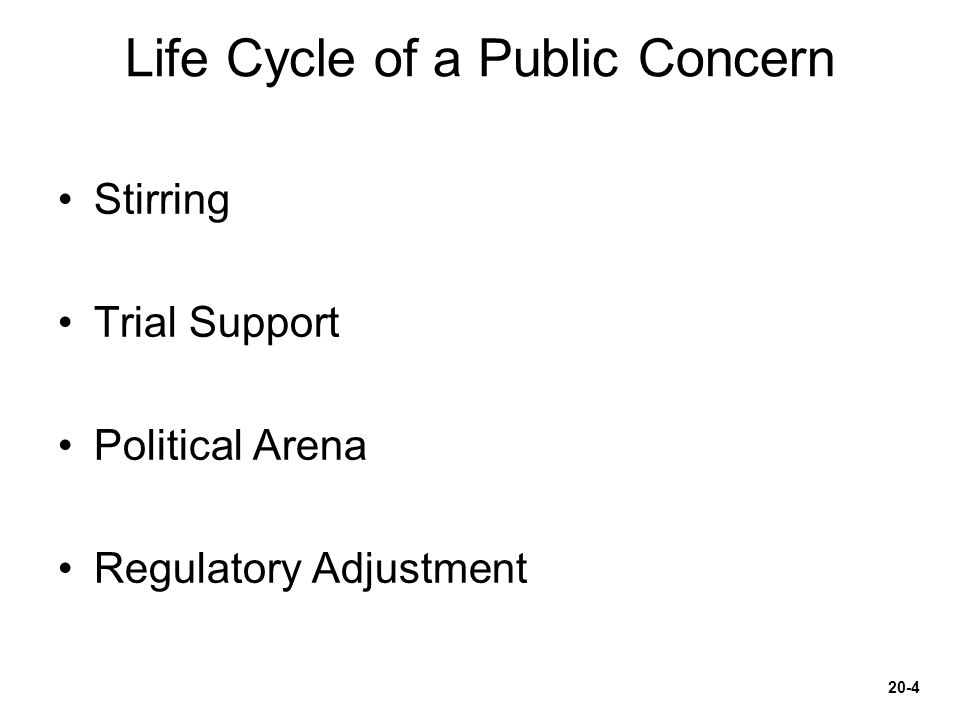 Life Cycle of a Public Concern