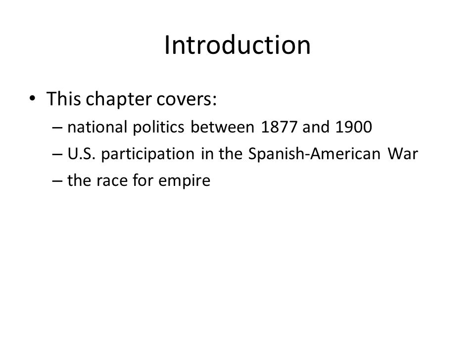 Introduction This chapter covers: