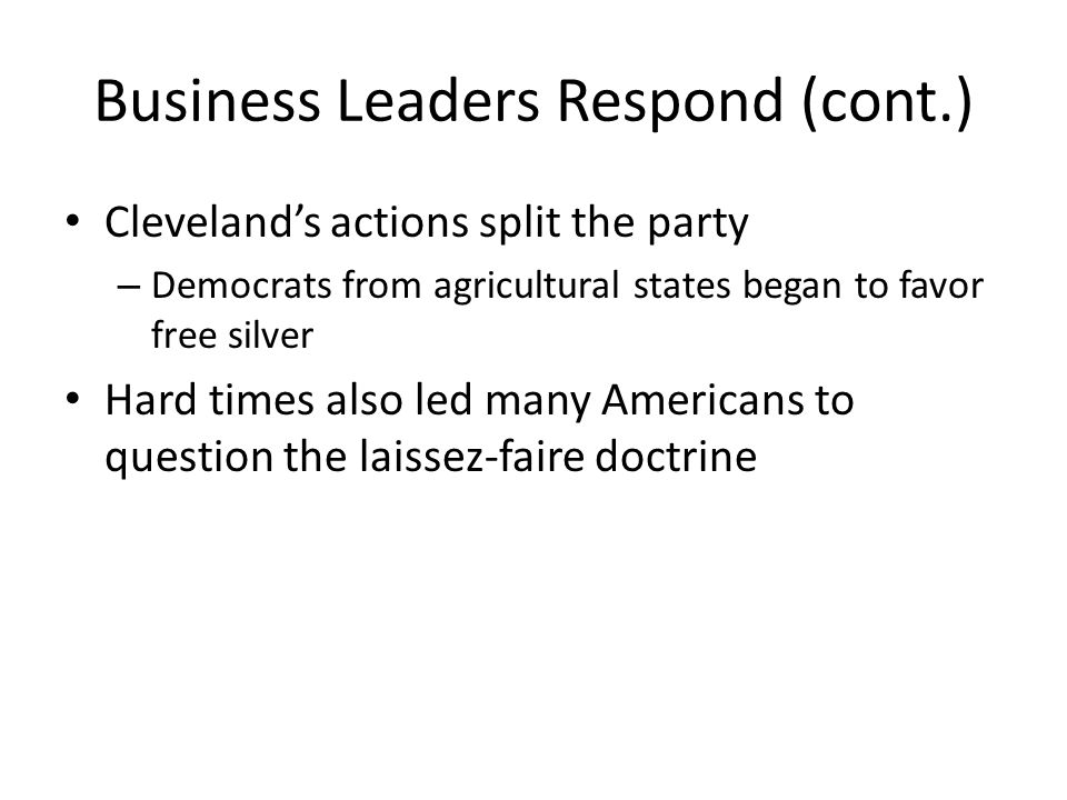 Business Leaders Respond (cont.)