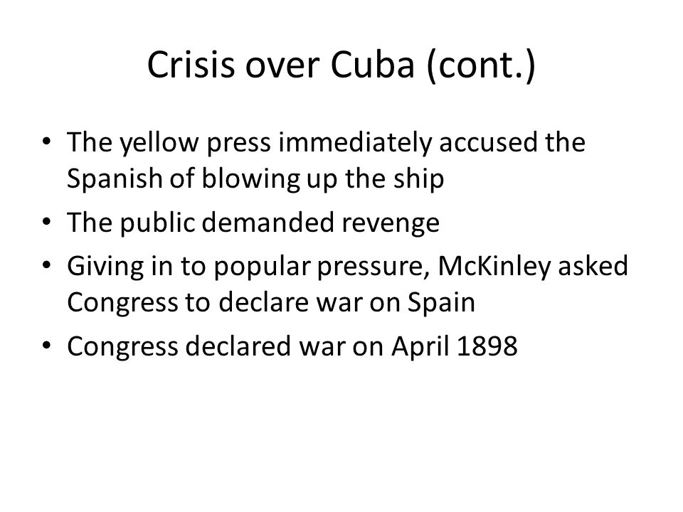 Crisis over Cuba (cont.)