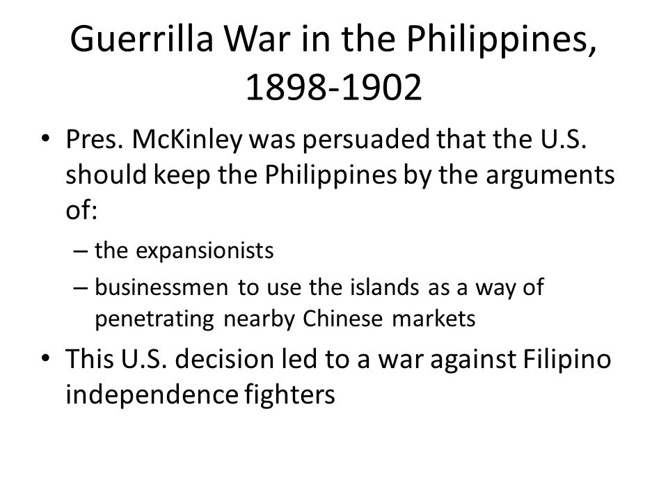 Guerrilla War in the Philippines, 1898-1902