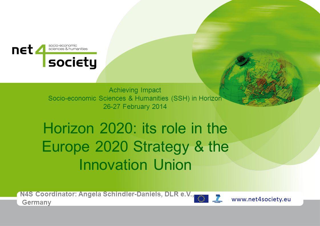 Socio-economic Sciences & Humanities (SSH) in Horizon