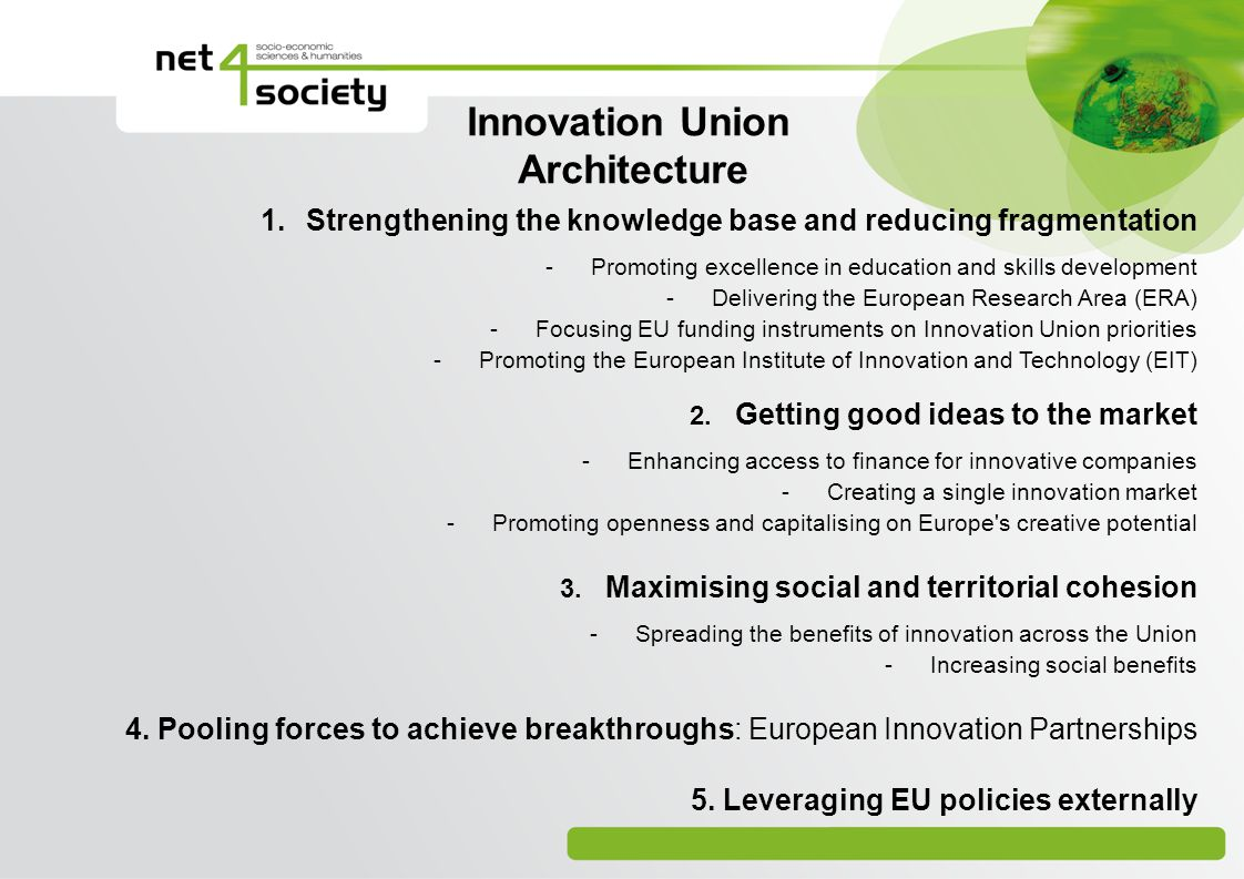 Innovation Union Architecture