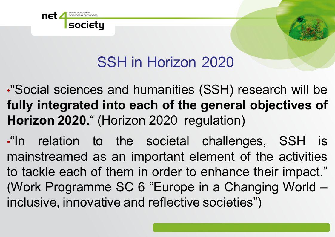 SSH in Horizon 2020