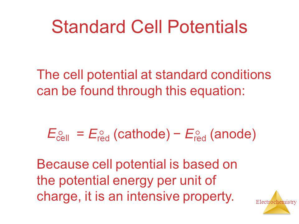 Standard Cell Potentials
