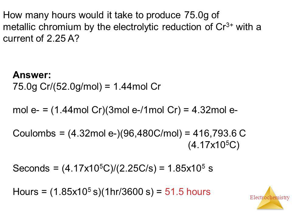 How many hours would it take to produce 75.0g of