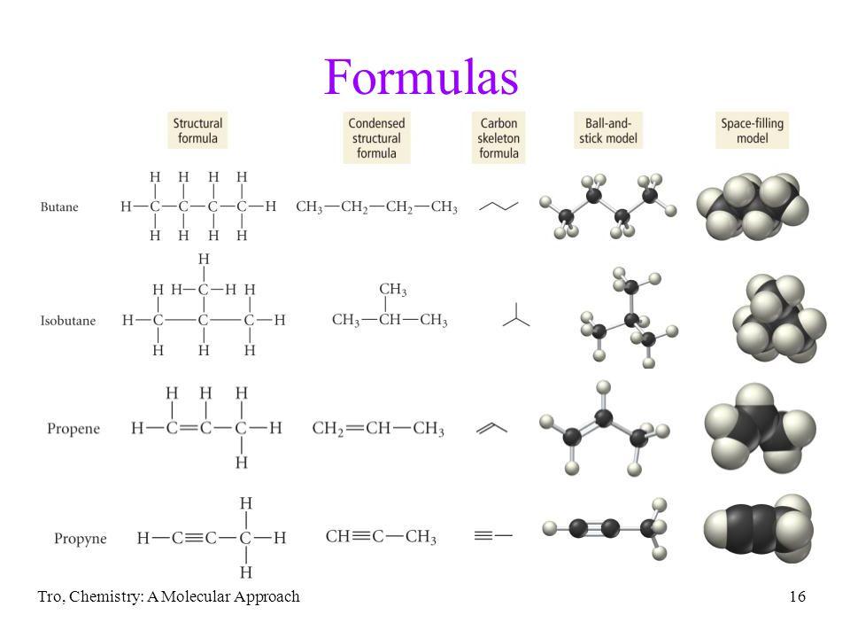 Formulas Tro, Chemistry: A Molecular Approach