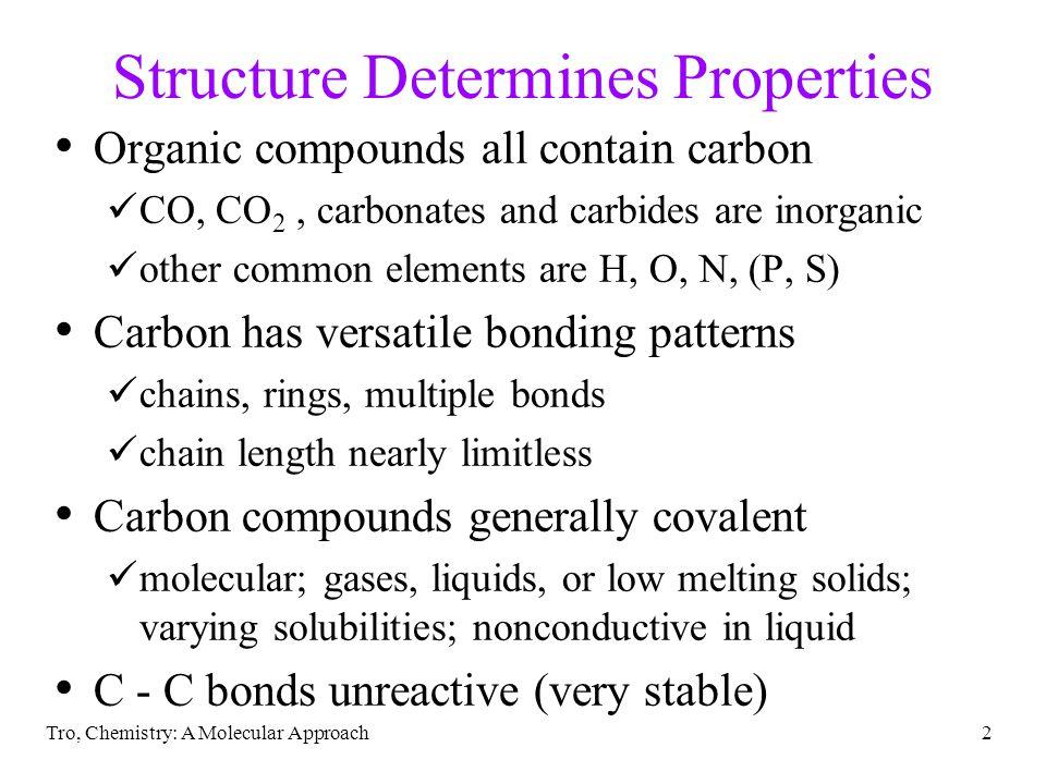 Structure Determines Properties