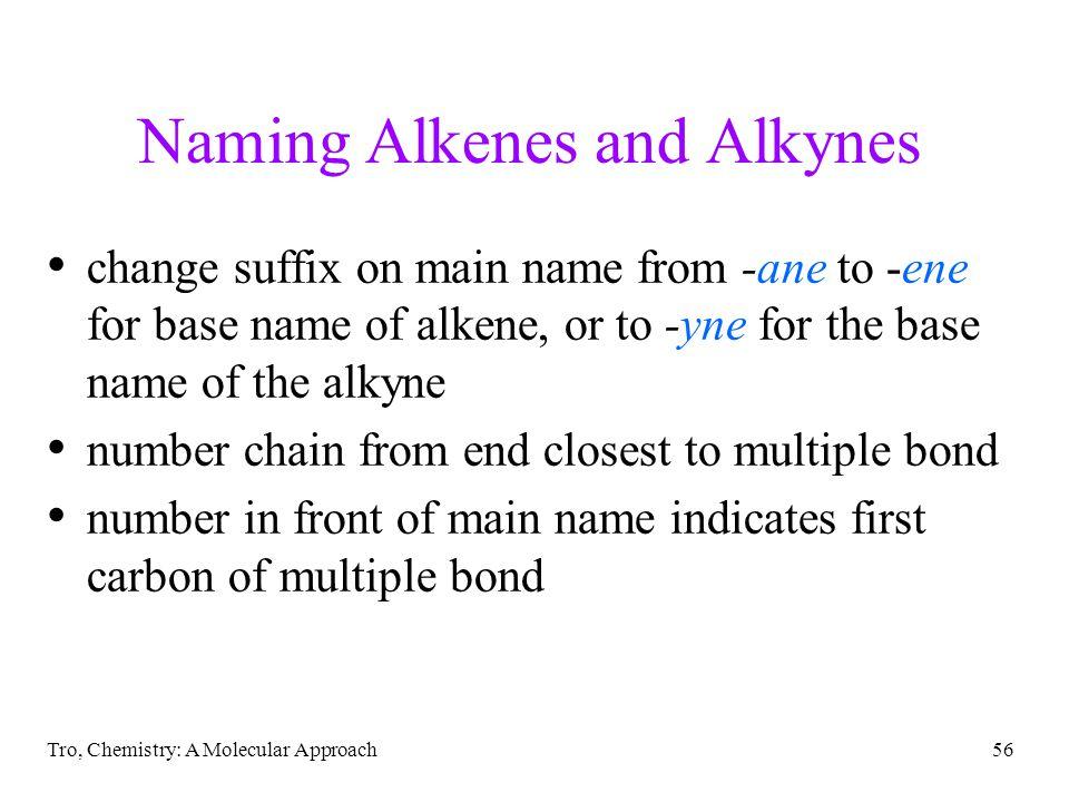 Naming Alkenes and Alkynes