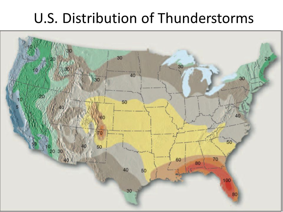 U.S. Distribution of Thunderstorms