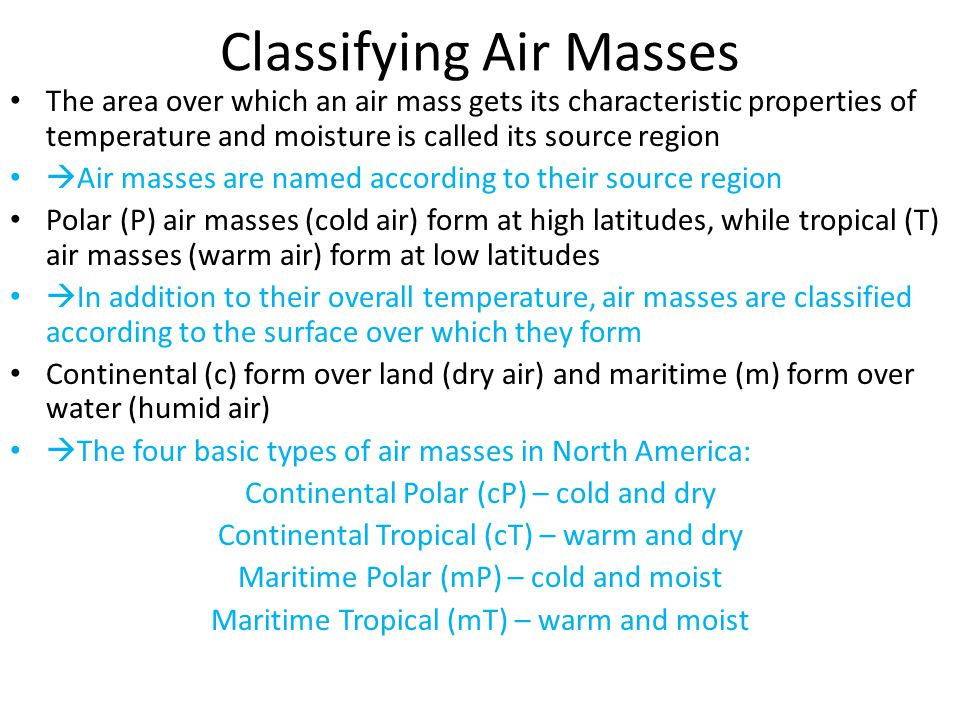 Classifying Air Masses