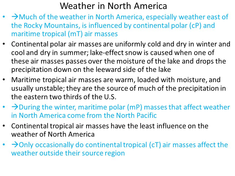 Weather in North America