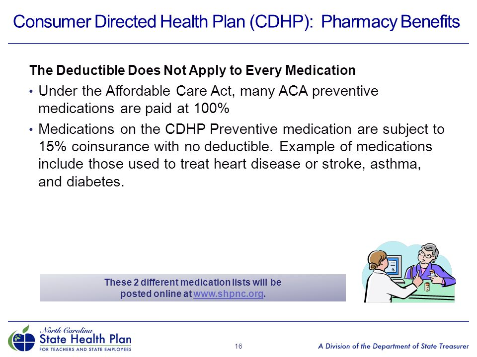 Consumer Directed Health Plan (CDHP): Pharmacy Benefits