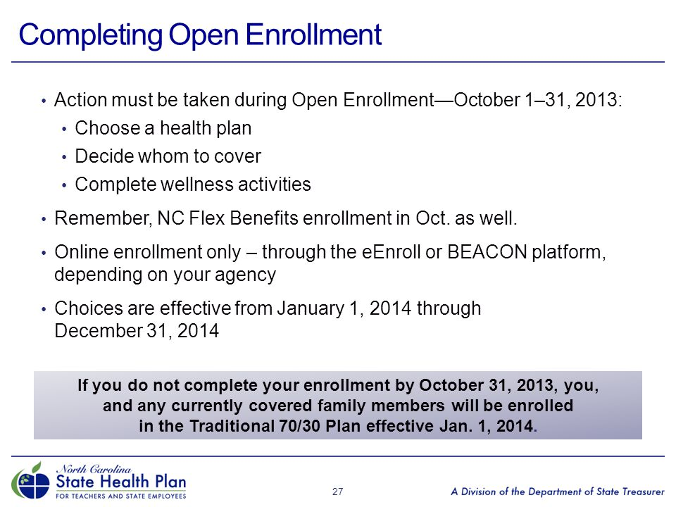Completing Open Enrollment