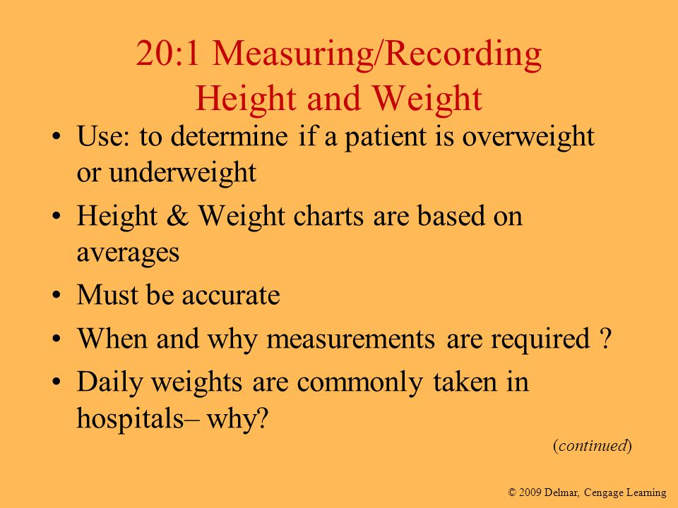 20:1 Measuring/Recording Height and Weight