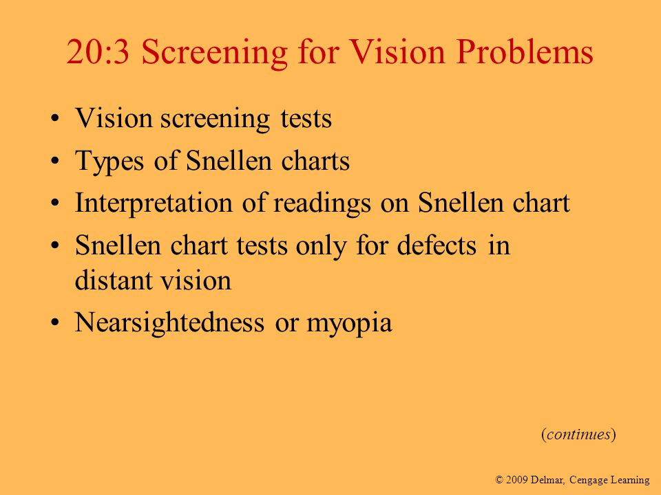 20:3 Screening for Vision Problems