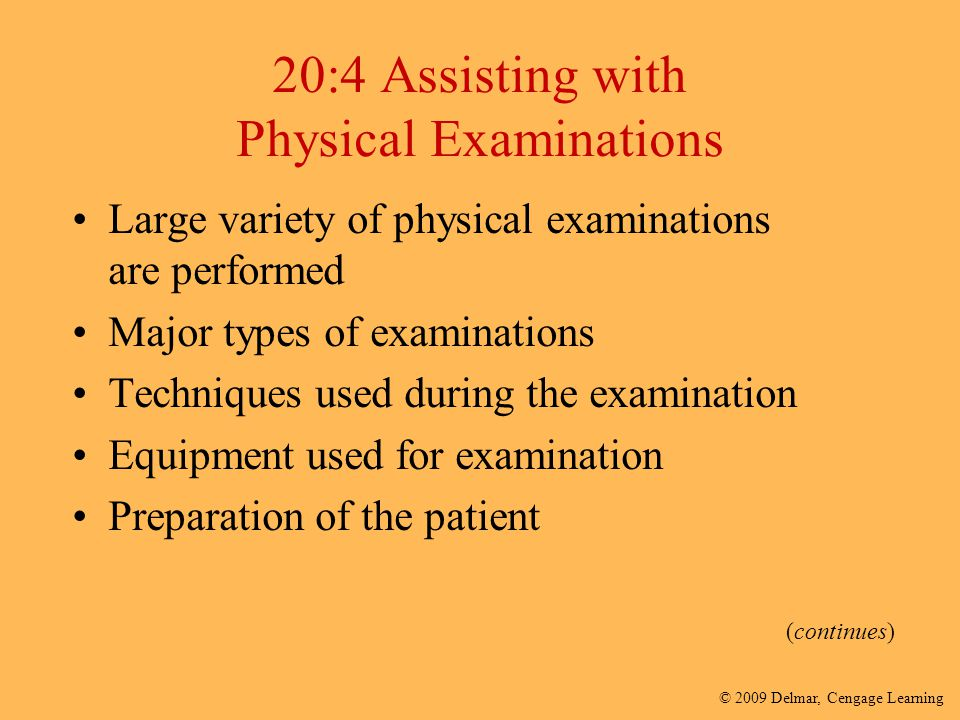 20:4 Assisting with Physical Examinations