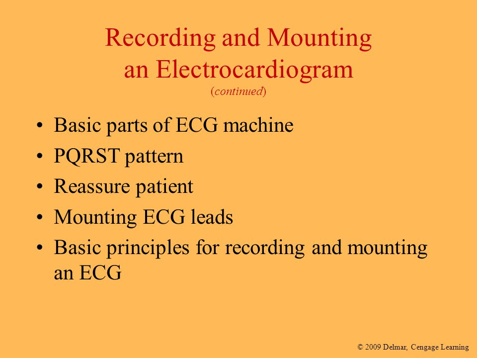 Recording and Mounting an Electrocardiogram (continued)